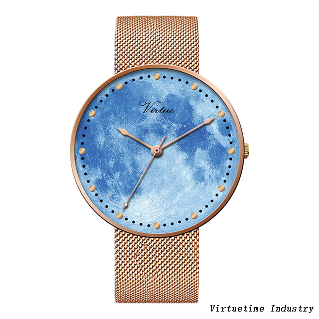 Girl's watch alloy watch customized with stainless steel mesh Strap