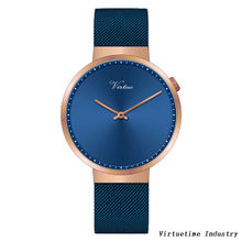 Watches for women alloy watch customized with stainless steel mesh Strap